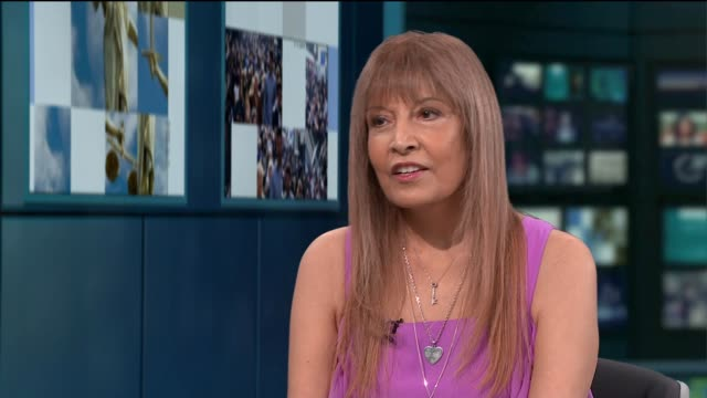 Jameela Jamil's mother and former model Shireen Jamil does unairbrushed photoshoot ENGLAND London GIR INT Shireen Jamil LIVE STUDIO interview SOT