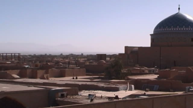 jameh mosque mcu view of the dome and roofs of the 12th century jameh mosque complex the mosque is a fine specimen of the azari style of architecture - circa 12th century stock videos & royalty-free footage