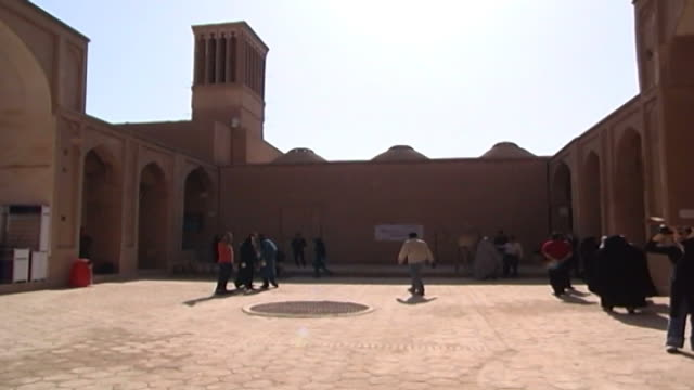 stockvideo's en b-roll-footage met jameh mosque. view of the courtyard of the 12th century jameh mosque. the mosque is a fine specimen of the azari style of architecture. - famous place