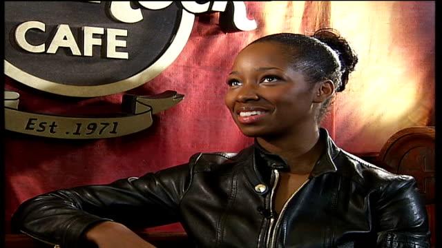jamelia gig at hard rock cafe jamelia interview sot - hard rock cafe stock videos & royalty-free footage