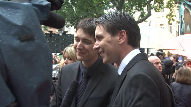 james and oliver phelps at the harry potter and the halfblood prince at london england - oliver phelps stock videos & royalty-free footage