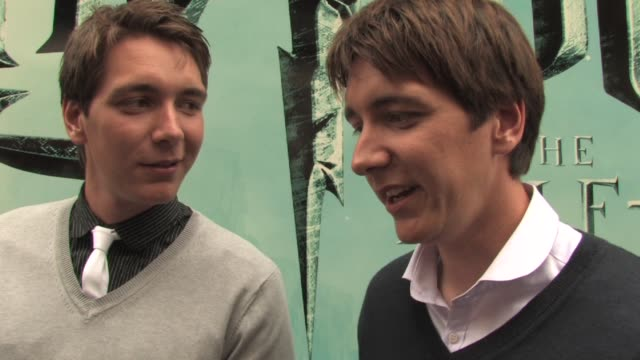 james and oliver phelps on what they'd like to do next actingwise on what's in the harry potter experience on that a winner can be in the next harry... - oliver phelps stock videos & royalty-free footage