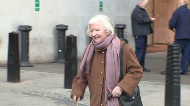 p d james at celebrity video sightings at bbc radio two on january 28 2013 in london england - p. d. james stock videos & royalty-free footage