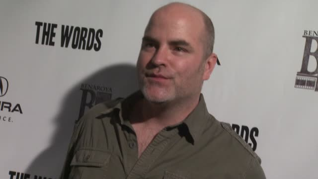 james babson at acura hosts 'the words' cast dinner at the acura studio in park city utah on 1/26/2012 - park city utah stock videos and b-roll footage