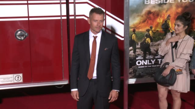 """james badge dale at the """"only the brave"""" premiere at regency village theatre on october 08, 2017 in westwood, california. - regency village theater stock videos & royalty-free footage"""