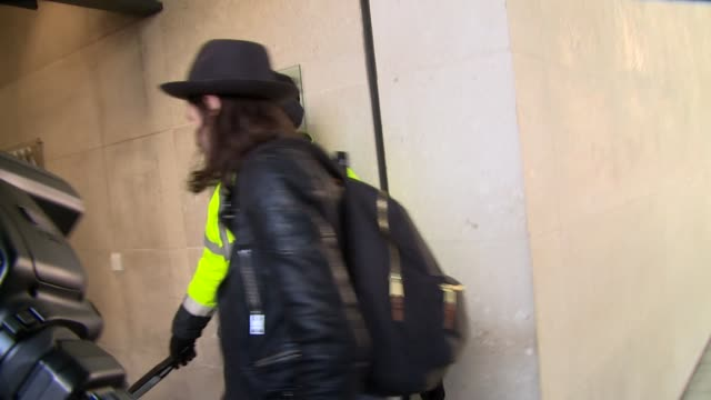 james bay at london celebrity sightings on 3rd march 2015 in london england - ブリット・アワード点の映像素材/bロール
