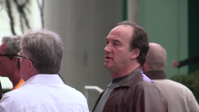 james belushi arrives at staples center in los angeles 05/01/12 james belushi arrives at staples center in los ang on may 01 2012 in los angeles... - staples center stock videos and b-roll footage