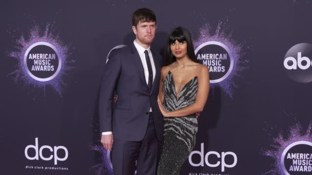 james blake and jameela jamil at the 2019 american music awards at microsoft theater on november 24 2019 in los angeles california - american music awards stock videos & royalty-free footage