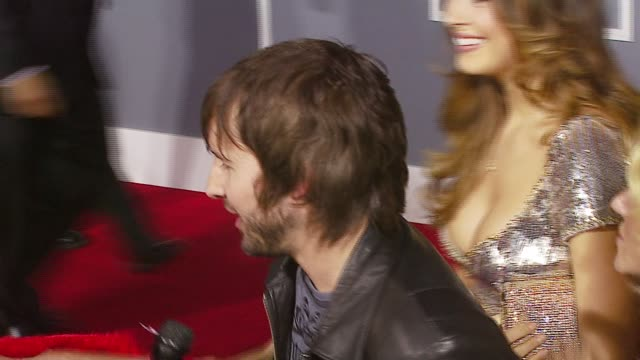 James Blunt and Petra Nemcova at the 2007 Grammy Awards Arrivals at Staples Center in Los Angeles California on February 11 2007
