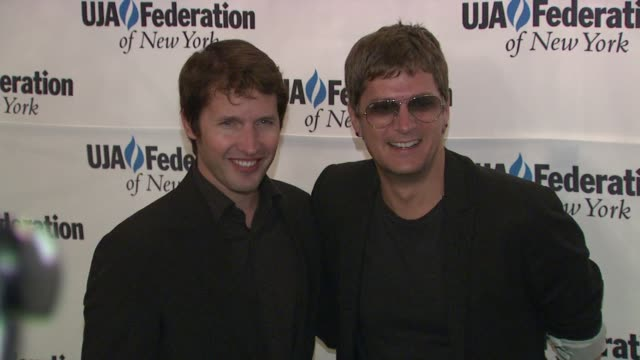 James Blunt and Rob Thomas at the UJAFederation's Music Visionary of the Year Award Luncheon at New York NY