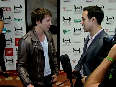 James Blunt at the Help The Heroes Concert at London England