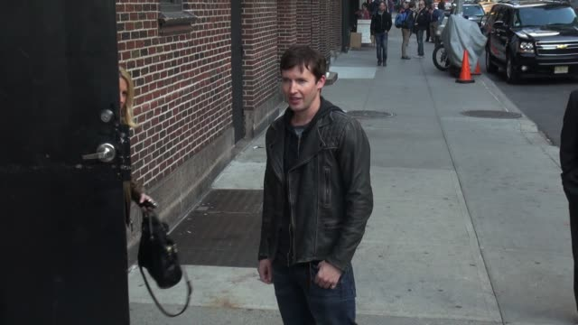 James Blunt poses for photographers outside the Late Show with David Letterman Celebrity Sightings in New York NY on 11/06/13