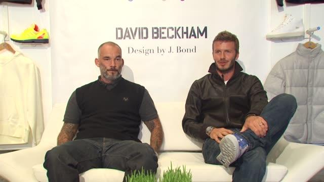 James Bond David Beckham on the collaboration at the David Beckham And James Bond Launch adidas Originals By Originals Line at Los Angeles CA