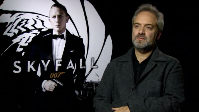 james bond film 'skyfall' sam mendes and dame judi dench interviews england london dorchester hotel int sam mendes interview sot on making skyfall /... - skyfall 2012 film stock videos and b-roll footage