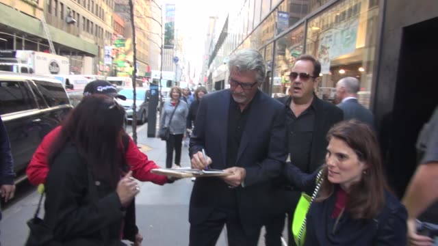 james brolin promoting 'life in pieces' arrives at the 'today' show and signs for fans in celebrity sightings in new york, - james brolin stock videos & royalty-free footage
