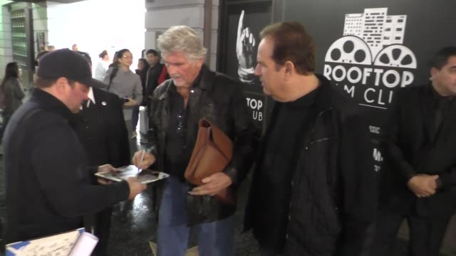 james brolin with fans the ricardo montalban theatre in hollywood at celebrity sightings in los angeles on march 05, 2016 in los angeles, california. - james brolin stock videos & royalty-free footage