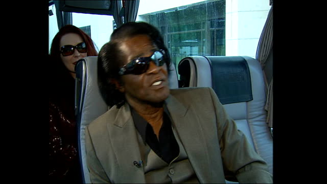 james brown interview; england: london: int tour bus james brown interview sot - owed ten fifteen billion dollars because i sell all over the world /... - performance improvement stock videos & royalty-free footage