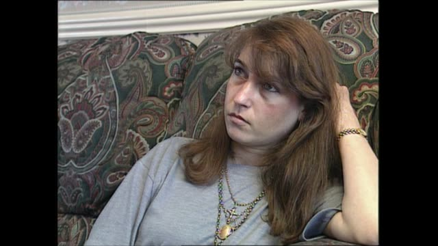 stockvideo's en b-roll-footage met denise bulger interview; england: int photocall with denise bulger standing by unknown portrait of son james bulger denise bulger interview sot - crime and murder
