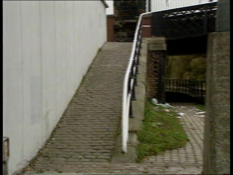james bulger murder trial itn lib liverpool bootle strand shopping centre ms people to and fro outside butcher's shop from where james disappeared... - merseyside stock videos and b-roll footage