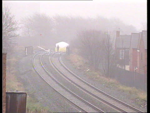 James Bulger murder trial Railway track where Jamie's body was ZOOM IN