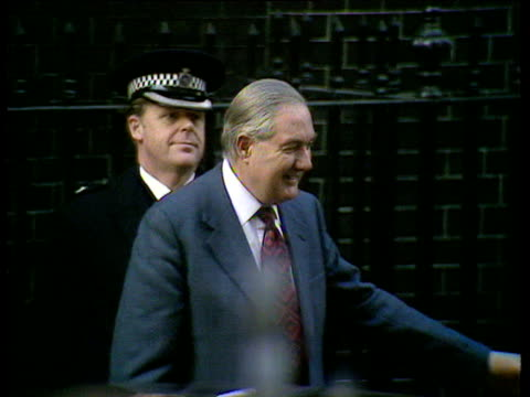 James Callaghan and wife Audrey arrive at 10 Downing Street on day he was named as Prime Minister 05 Apr 76