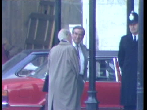 labour party leadership england london house of commons denis healey mp along and chats to man by car big ben as chimes 3 o clock eng sony itn 35... - denis healey stock videos & royalty-free footage