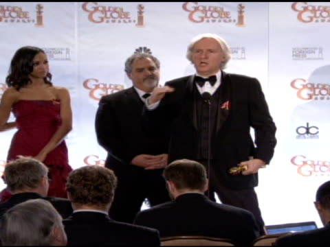 james cameron and crew of avatar on the collaboration of filmmakers and animators. at the 67th annual golden globe awards - press room at beverly... - james cameron stock videos & royalty-free footage