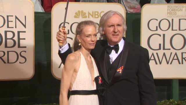 james cameron and suzy amis at the 67th annual golden globe awards - arrivals part 5 at beverly hills ca. - james cameron stock videos & royalty-free footage