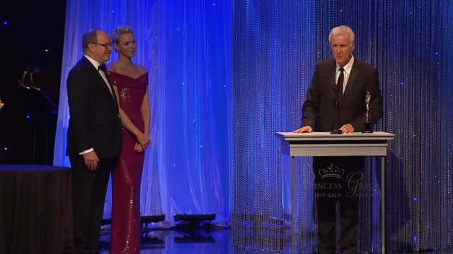 james cameron at 2017 princess grace awards gala with presenting sponsor christian dior couture at the beverly hilton hotel on october 25, 2017 in... - james cameron stock videos & royalty-free footage