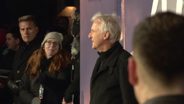james cameron at 'alita: battle angel' world premiere at odeon leicester square on january 31, 2019 in london, england. - james cameron stock videos & royalty-free footage