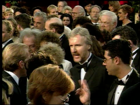 James Cameron at the 1998 Academy Awards Arrivals at the Shrine Auditorium in Los Angeles California on March 23 1998