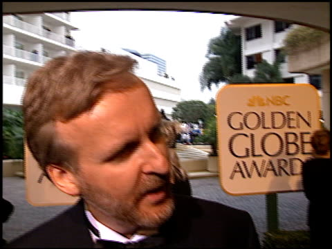 james cameron at the 1998 golden globe awards at the beverly hilton in beverly hills, california on january 18, 1998. - james cameron stock videos & royalty-free footage