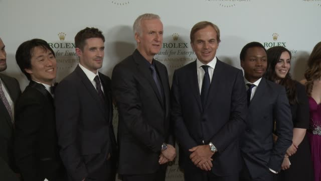 james cameron, conor walsh, andrew bastawrous, kerstin forsberg, vreni haussermann, sonam wangchuck, and more at the 2016 rolex awards for enterprise... - the dolby theatre stock videos & royalty-free footage