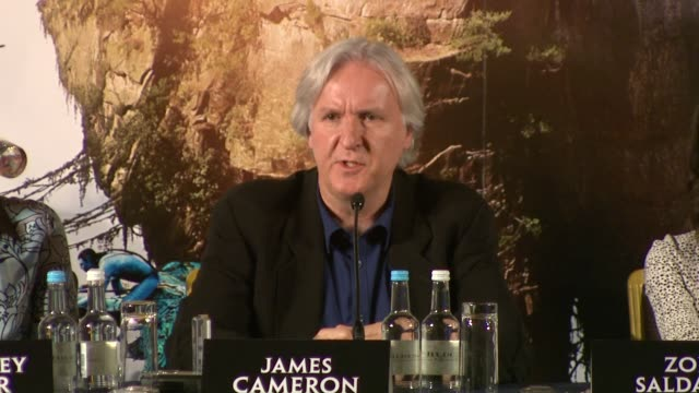 james cameron on he message of the film and the connection to real and historical events like vietnam, 9/11 and the ongoing displacement of... - james cameron stock videos & royalty-free footage