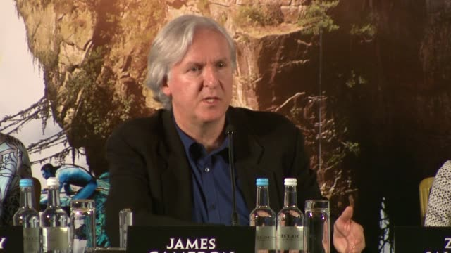 james cameron on the method of filming using performance capture and how it allows him to work with actors in ways he's never really able to and how... - james cameron stock videos & royalty-free footage