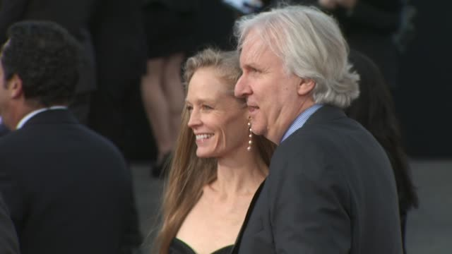 james cameron , suzy amis at the 2010 producers guild awards at hollywood ca. - james cameron stock videos & royalty-free footage