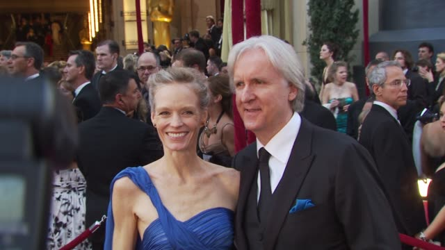 james cameron , suzy amis at the 82nd annual academy awards - arrivals at hollywood ca. - james cameron stock videos & royalty-free footage