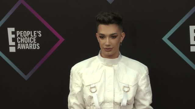 james charles at the people's choice awards 2018 at barker hangar on november 11 2018 in santa monica california - people's choice awards stock videos & royalty-free footage