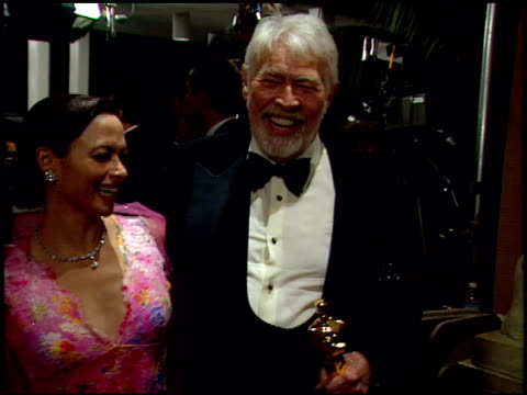 james coburn at the 1999 academy awards miramax party at the beverly hilton in beverly hills, california on march 31, 1999. - james coburn stock videos & royalty-free footage
