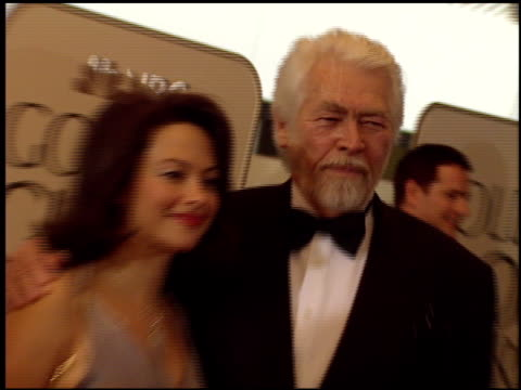 james coburn at the 1999 golden globe awards at the beverly hilton in beverly hills, california on january 24, 1999. - james coburn stock videos & royalty-free footage