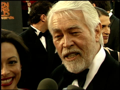 james coburn at the 1999 screen actors guild sag awards at the shrine auditorium in los angeles, california on march 7, 1999. - james coburn stock videos & royalty-free footage
