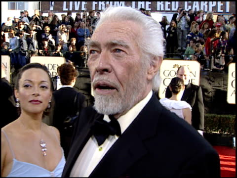 james coburn at the 2002 golden globe awards at the beverly hilton in beverly hills, california on january 20, 2002. - james coburn stock videos & royalty-free footage