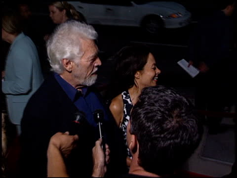 james coburn at the captain corelli's mandolin premiere at academy theater in beverly hills, california on august 13, 2001. - james coburn stock videos & royalty-free footage
