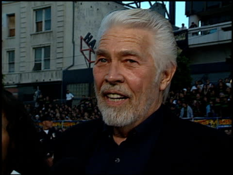 james coburn at the 'eraser' premiere at grauman's chinese theatre in hollywood, california on june 11, 1996. - james coburn stock videos & royalty-free footage