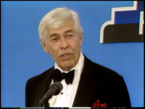james coburn at the happy birthday hollywood party at the shrine auditorium in los angeles, california on april 26, 1989. - james coburn stock videos & royalty-free footage