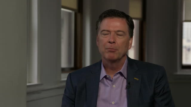 James Comey talking about the 'discomfort' he felt discussing with Donald Trump allegations of the President seeing Russian prostitutes in Moscow