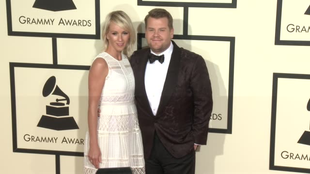 stockvideo's en b-roll-footage met james corden at the 58th annual grammy awards® arrivals at staples center on february 15 2016 in los angeles california - 58e grammy awards