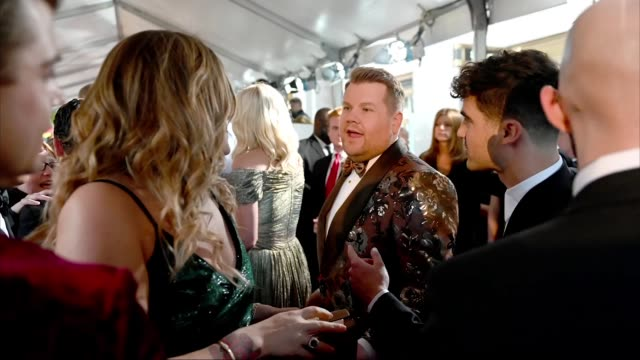 stockvideo's en b-roll-footage met james corden attends the 73rd annual tony awards at radio city music hall on june 09 2019 in new york city - radio city music hall