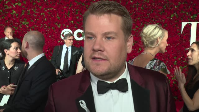 interview james corden talks about the tragedy in orlando at 2016 tony awards red carpet at the beacon theatre on june 12 2016 in new york city - 70th annual tony awards stock videos and b-roll footage