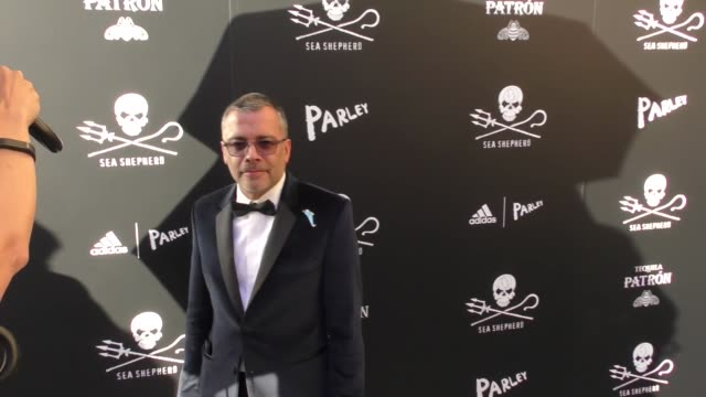 james costa at the sea shepherd conservation society's 40th anniversary gala for the oceans at montage beverly hills on june 10, 2017 in beverly... - モンタージュ・ビバリーヒルズ点の映像素材/bロール